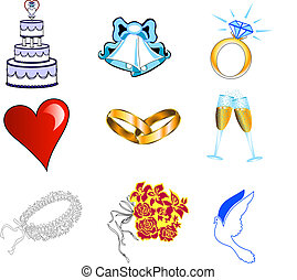 Wedding Icons 2 - Glossy, also available in other sets