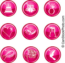 Wedding Icons 1 - Glossy, also available in other sets