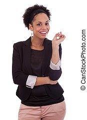 Thoughtful african american business woman - Black people