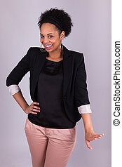 Happy african american business woman - Black people - Happy...