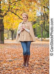 Pretty Young Female in Autumn Fashion