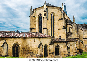 Sarlat Dordogne Perigord France - cathedral church in the...
