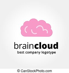 Abstract vector brain logotype concept isolated on white...