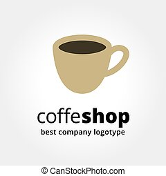 Abstract vector coffe cup logotype concept isolated on white...