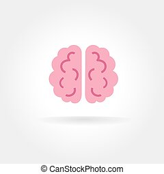 Abstract vector brain icon concept isolated on white...