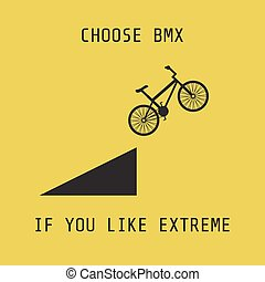 bmx - silhouette bmx, choose it if you like extreme