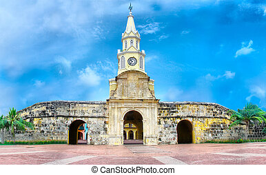 Clock Tower - Cartagena, Colombia - Entrance to the walled...