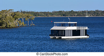 Boat house in Gold Coast Queensland Australia - GOLD COAST -...