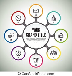 Circle Module Infographic - Vector illustration of circle...