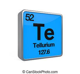 Tellurium Element Periodic Table isolated on white...