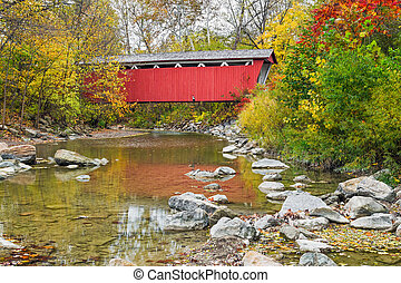 Everett Covered Bridge - The Everett Covered Bridge crosses...