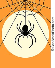 Halloween Spider Silhouette poster