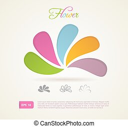 Colored flowers for your design
