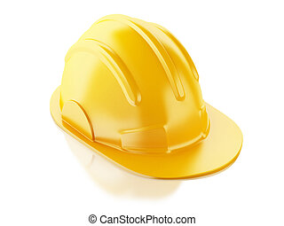 Construction Helmet. 3d illustration