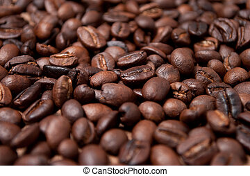coffee beans.  - Roasted whole, unground coffee beans.