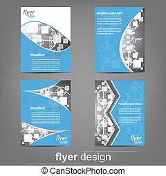 Flyer or cover design set - Flyer design collection, set of...