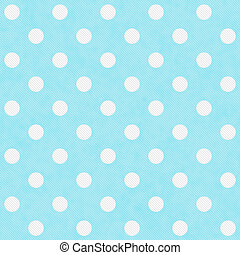 Teal and White Large Polka Dots Pattern Repeat Background...