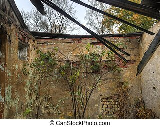 ancient ruins of military base