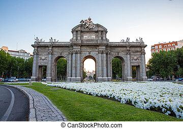 madrid, quadrato, indipendenza, Spagna, cancello