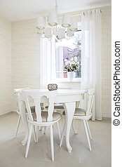 Classic table with chairs