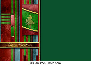 Merry Christmas greeting card copy space background