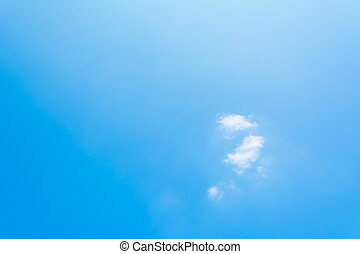pattern Cloud Against The Blue Sky - image of pattern Cloud...