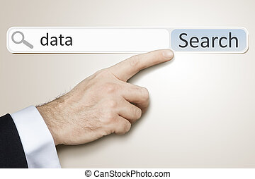 web search - An image of a man who is searching the web...