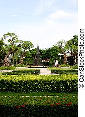 Bell sculpture - Asian bell in tropical Thailand - travel...
