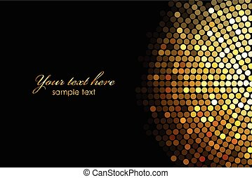 background with gold disco lights