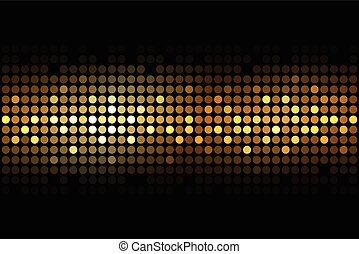 gold lights on black background - Vector gold lights on...