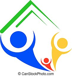 Vector icon of family house