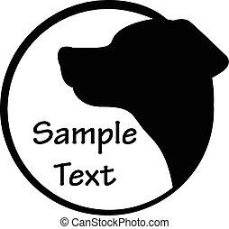 Vector, illustratie, van, dog, pictogram,