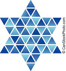 David Star mosaic icon - Vector Star of David Star mosaic...