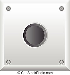 Vector illustration of gray button