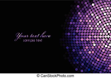background with purple disco lights