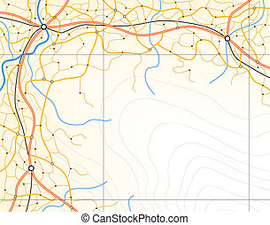 Generic map - Editable vector generic map with copy space...