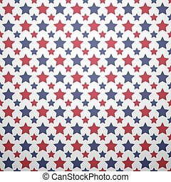 Patriotic red, white and blue geometric seamless pattern....