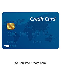Vector credit card - Realistic vector credit card isolated...