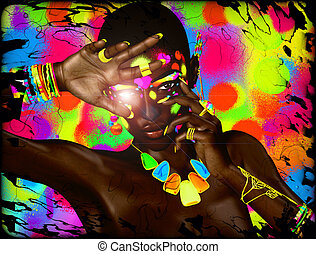 Abstract African Beauty Image - A modern digital art image...