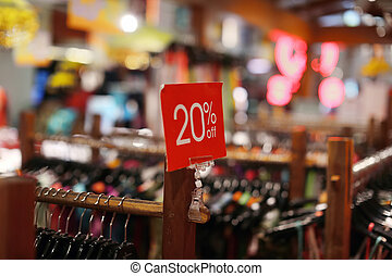 kleidung, Verkauf, kaufmannsladen, zeichen