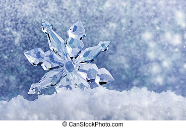 ice crystal on snow