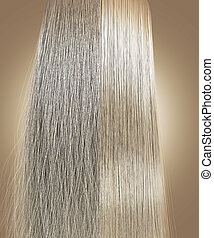 Blonde Hair Frizzy and Straight Comparison - A perfect...