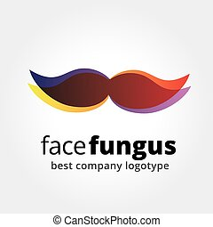 Abstract vector whiskers logotype concept isolated on white...