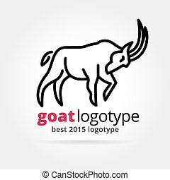 2015 vector goat logotype isolated on white background - Key...
