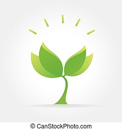 Abstract vector nature icon isolated on white background -...
