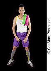 asian in sportswear