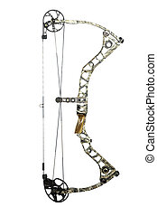 Compound bow - modern, camouflaged, compound hunting bow...