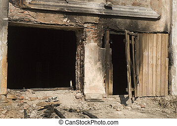 ruins - image of old burnt building