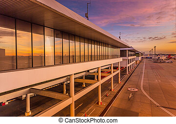 Don muang - Airport terminal in the morning time , Don muang...