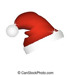 Christmas hat on a white background
